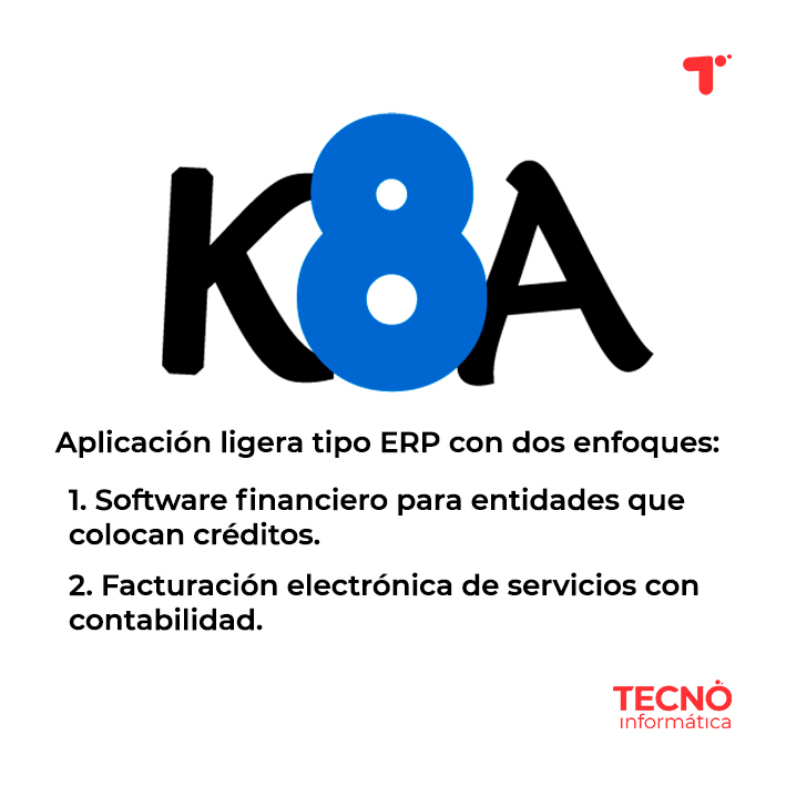 Software financiero K8A